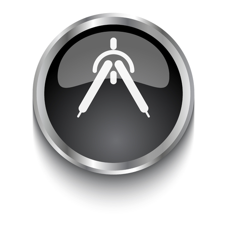 drafting: White Drafting Compass symbol on black web button