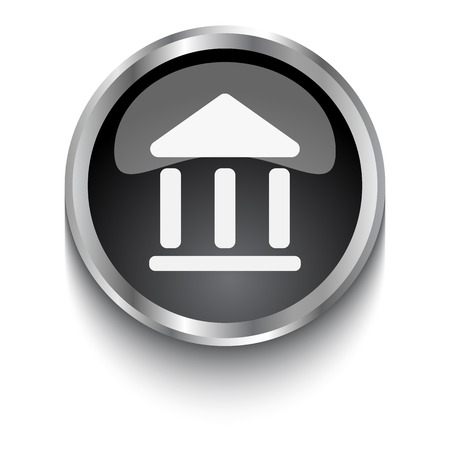 institution: White Institution symbol on black web button