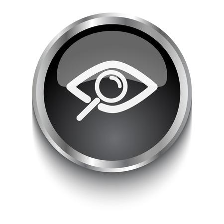 observation: White Observation symbol on black web button
