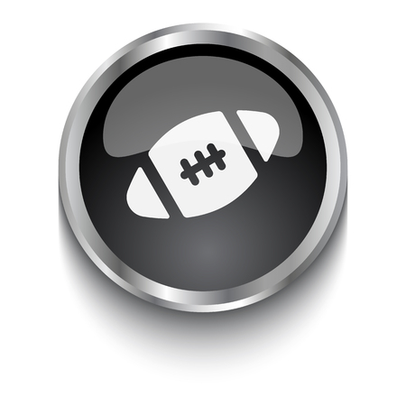 black american: White American Football symbol on black web button