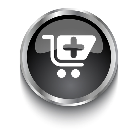 pharmacy store: White Pharmacy Store symbol on black glossy web button