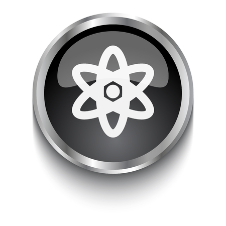 nuclear fission: White Nuclear symbol on black web button