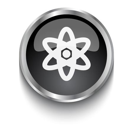 fission: White Nuclear symbol on black web button