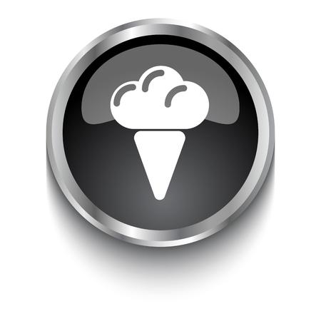 soft serve: White Ice Cream symbol on black web button