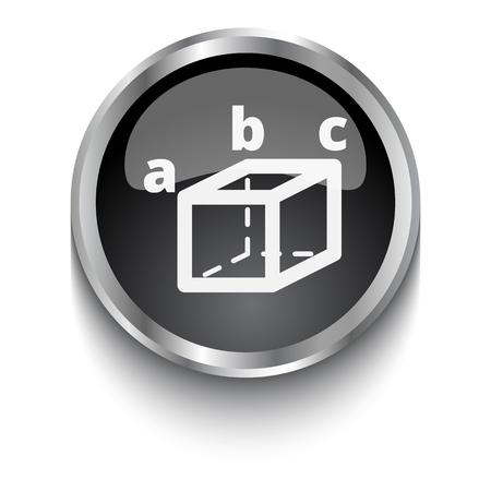 White Trigonometry symbol on black web button Illustration