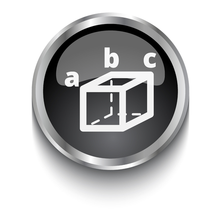 trigonometry: White Trigonometry symbol on black web button Illustration