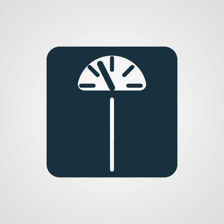 analog weight scale: Flat Personal Scale icon