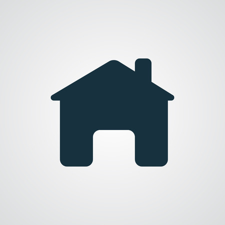 plain button: Flat Home icon Illustration