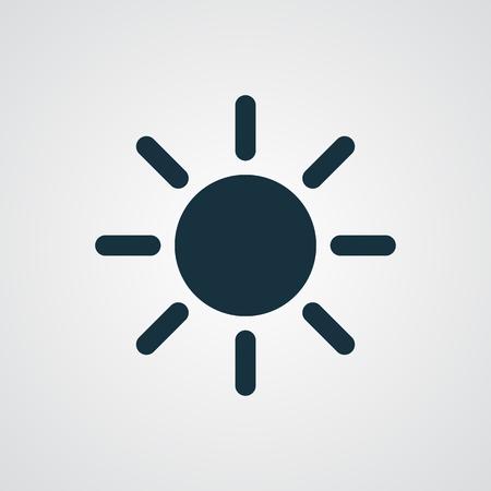 fine weather: Flat Sun icon