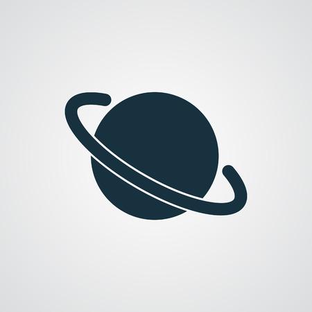 jupiter: Flat Jupiter Icon icon Illustration