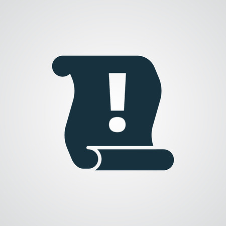 Flat Important Information icon Vettoriali