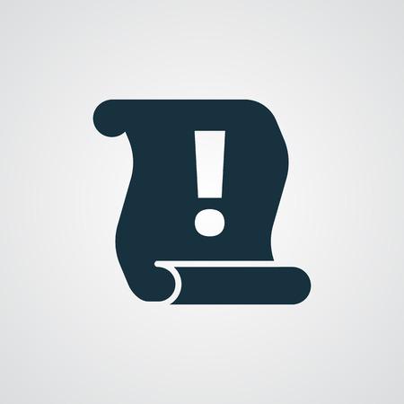 information icon: Flat Important Information icon Illustration