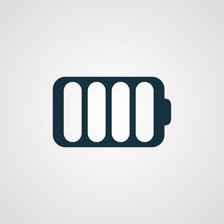 cell charger: Flat Battery icon Illustration