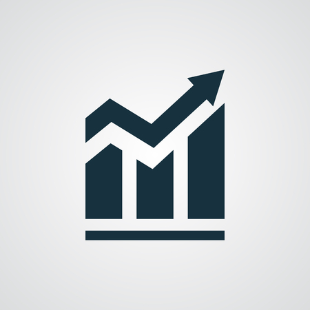 growth arrow: Flat Trend icon Illustration