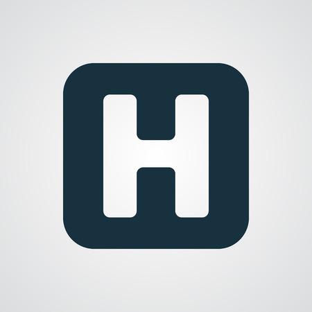 Flat Helicopter Platform icon 向量圖像