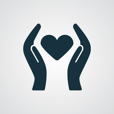 goodness: Flat Heart Care icon Illustration