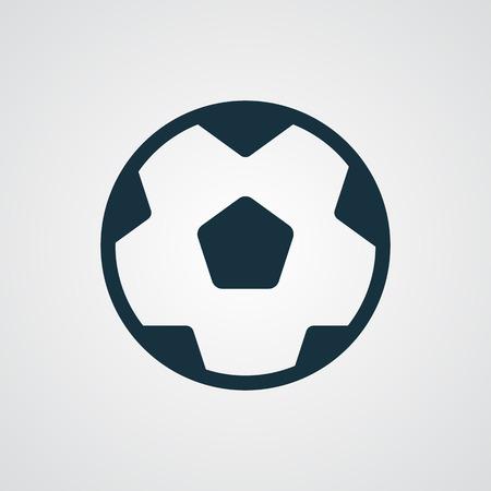 pelota de futbol: icono de Fútbol plana
