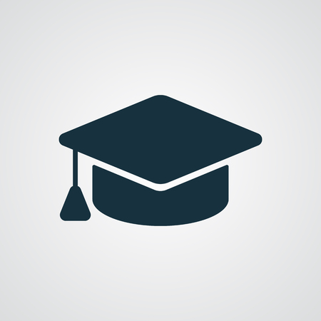 sombrero: Flat Graduation Cap icon