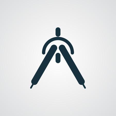 drafting: Flat Drafting Compass icon Illustration