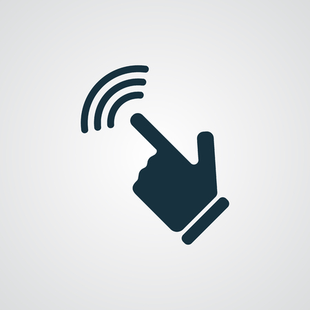 flat screen: Flat Touch Screen icon Illustration