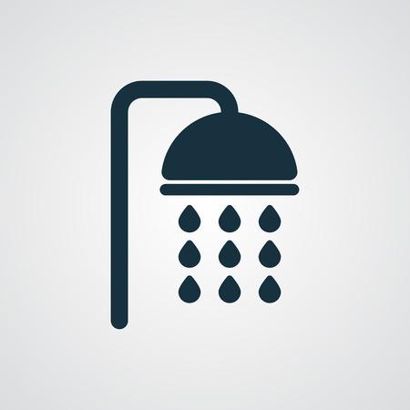 플랫 샤워 아이콘