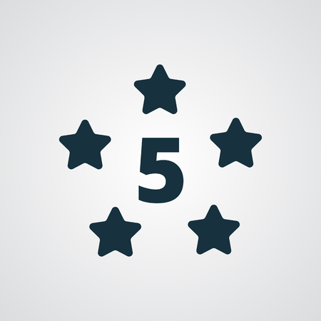 five star: Flat Five Star icon