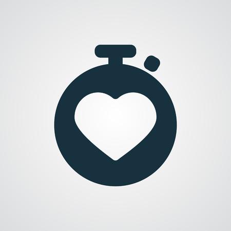 heart monitor: Flat Heart Rate Monitor icon Illustration