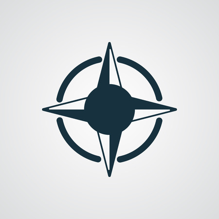 compass rose: Flat Compass Rose icon