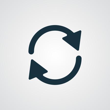 refresh: Flat Refresh icon Illustration