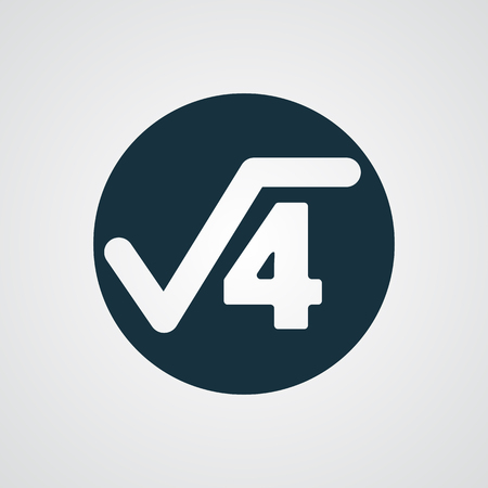square root: Flat Square Root icon Illustration