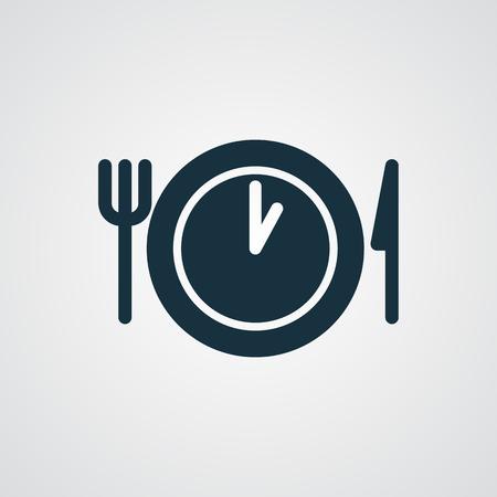Icono de Time Almuerzo plana