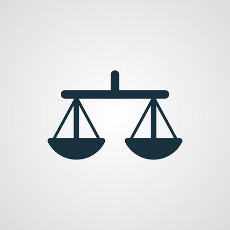 concepto equilibrio: Icono de Balance plana