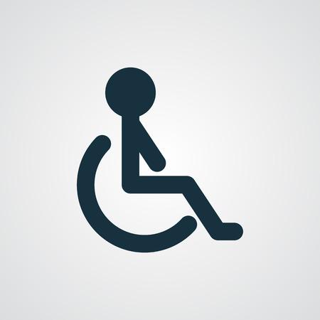 wheel chair: Flat Wheel Chair icon