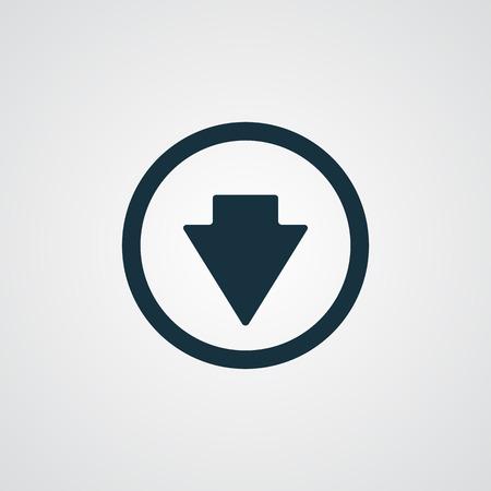 arrow down icon: Flat arrow down icon
