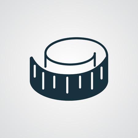 cintas metricas: icono de medición de la cinta plana Vectores