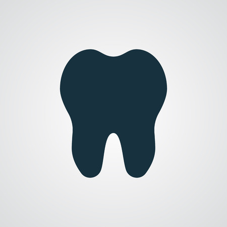 mouth pain: Flat Tooth icon