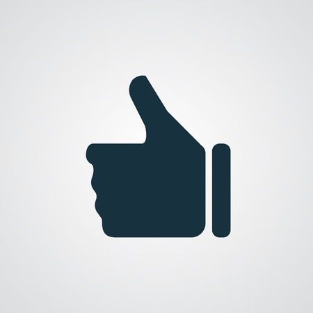 Flat thumb up icon