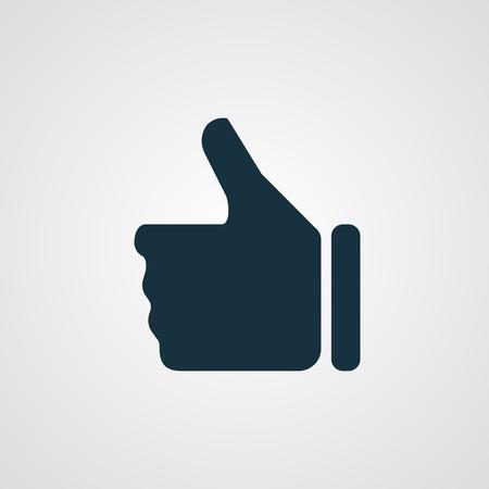 thumb up icon: Flat thumb up icon