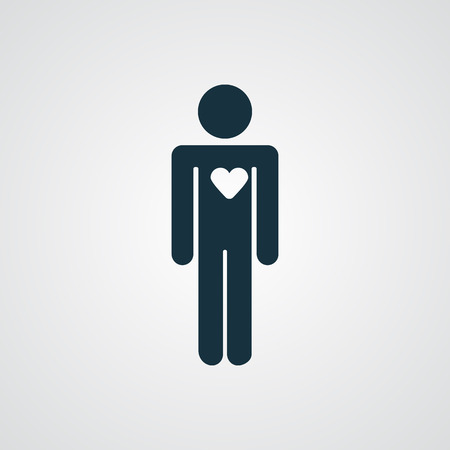 person silhouette: Flat Heart icon