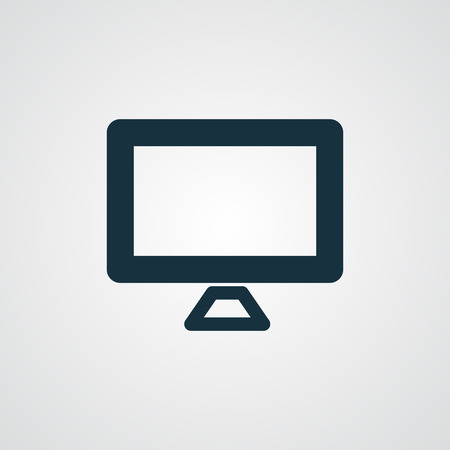 flat screen: Flat Computer Screen icon Illustration