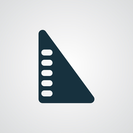 millimeters: Flat Set Square icon Illustration