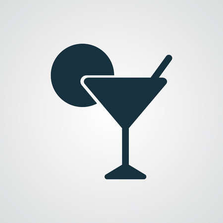 shot glass: Flat Cocktail icon