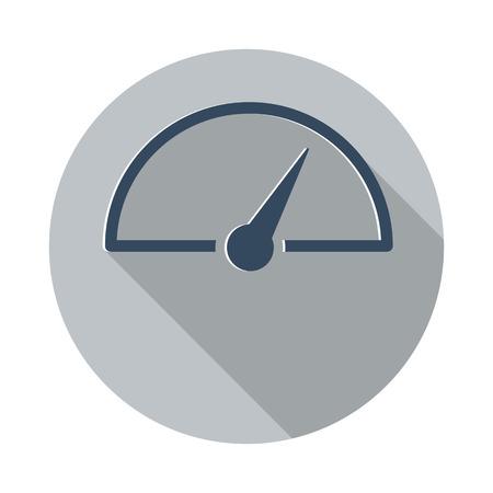 Wohnung Blau Speed ??Meter-Symbol Auf Kreis Web-Taste Auf Weiß ...