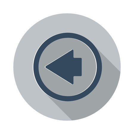 arrow left icon: Flat Arrow Left icon with long shadow on grey circle