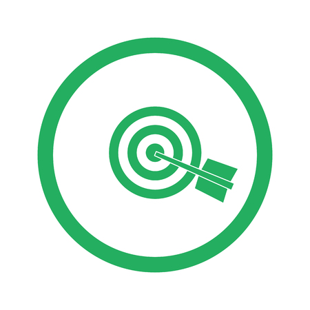 green arrow: Flat green Target icon and green circle