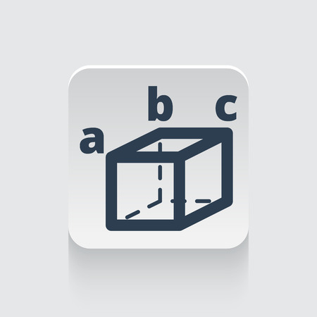 trigonometry: Flat black Trigonometry icon on rounded square web button