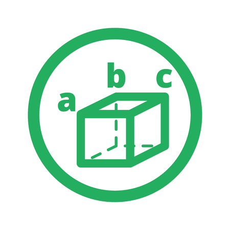 trigonometry: Flat green Trigonometry icon and green circle