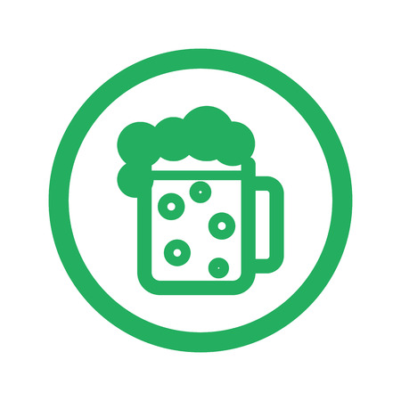 draughts: Flat green Beer icon and green circle