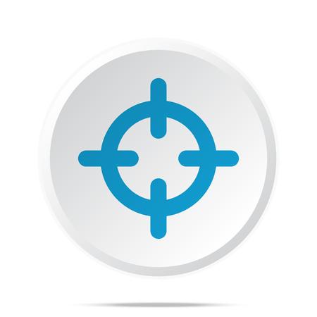 Flat blue Scope icon on circle web button on white