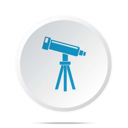 benchmark: Flat blue Telescope icon on circle web button on white Illustration